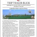 """Titelseite der Ortsteilzeitung """"Tiefthaler Blick"""", Ausgabe vom März 2016"""