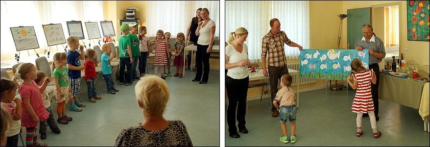Kindergarten beim Kunstfest