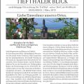 Tiefthaler Ortsteilzeitung, Ausgabe vom März 2015 (Titelseite)