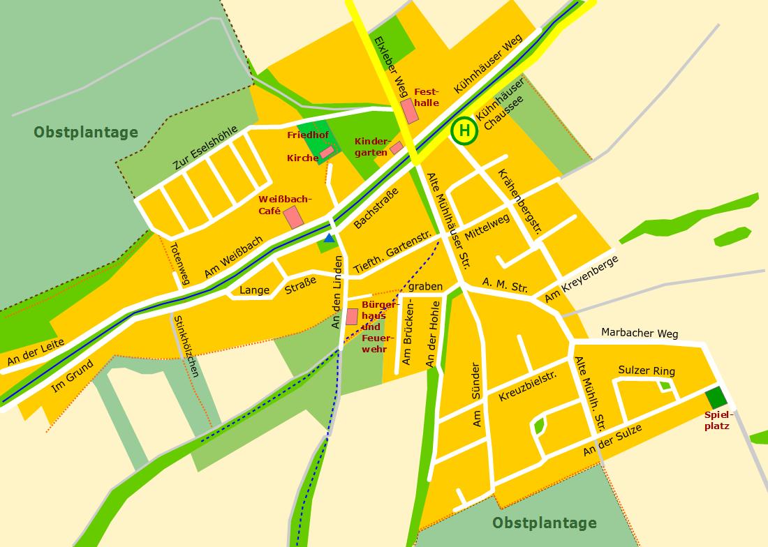Ortsplan von Tiefthal (gross)