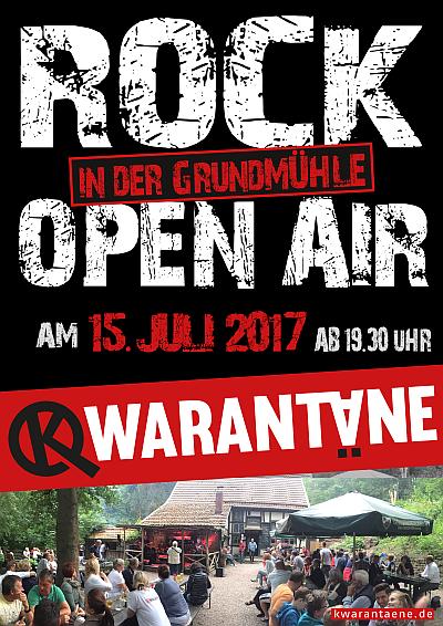 Plakat für das Kwarantäne-Konzert am 15.07.2017 in der Grundmühle